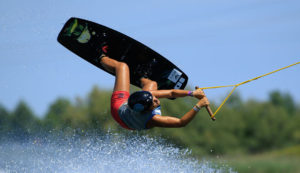 Claudia Pagnini wakeboard training