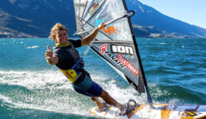 Riccardo Marca windsurf training